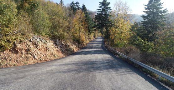 Zirveye çıkan alternatif yol asfaltlandı